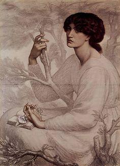 The Day Dream (unfinished) ~ Dante Gabriel Rossetti