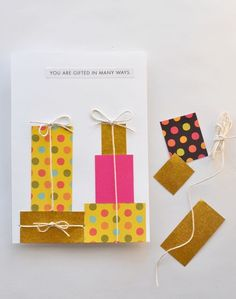 DIY card - you are gifted in many ways