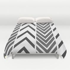 Black and White Bed Cover - Duvet Cover Only - Bed Spread - Bedroom Decor - Black and White Arrow Art - Made to Order by ShelleysCrochetOle on Etsy