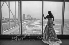 Amazing view overlooking Atlantic City, and Mandy in her beautiful wedding gown looking as stunning as ever.