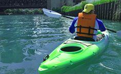"Urban Kayaks, China Town guided paddle (no ""tour"" narrative). $90/tandem"