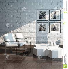 Modern interior design ideas that brighten up brick walls with white paint #whitebrickwall #wall #homedecor