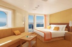 Carnival Breeze Cruise Ship Junior Suite....Perfect space for Matt and I to go on a 9 day European Cruise on Carnival Cruise Lines    http://www.carnival.com/cms/fun/ships/carnival_breeze/default.aspx#