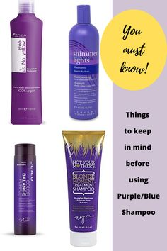 Read about correct way to use Blue or Purple shampoo step-by-step on your natural gray hair. Also interesting facts about silver shampoos. Blonde Hair Purple Shampoo, Best Purple Shampoo, Blonde Hair Care, Shampoo For Curly Hair, Purple Hair, Grey Hair Care, Short Grey Hair, Best Clarifying Shampoo, Box Hair Dye