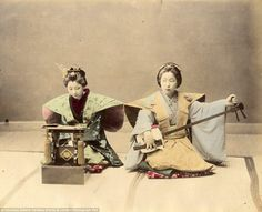 Hand-tinted: Each of the photographs was coloured by hand - a time consuming process in the 1800s