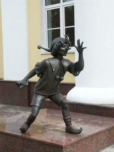 Pinocchio monument in Gomel, Belarus