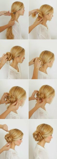 #tutorial #bun #hairstyle #DIY #hairdo