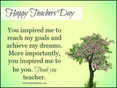 Want to thank your teacher for making you a good person? Sharing with you Thank you Greetings for Teachers Day Wishes with Quotes. Greetings For Teachers Day, Happy Teachers Day Message, Wishes For Teacher, Message For Teacher, Best Teacher Quotes, Teacher Appreciation Quotes, Lines On Teacher, Teachers Day Pictures, World Teacher Day