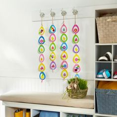 Your kids are sure to enjoy crafting this fun and festive Foam Easter Egg Banner.