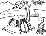 Discover hundreds of original printable colouring pages at Fun Printables for Kids! Back to school colouring pages, Hallowe'en printables, Christmas, Kwanzaa, Hanukkah printables- and more! Camping Coloring Pages, Free Coloring Pages, Newsletter Ideas, Beavers, Sleepover, Summer Fun, Printables, Free Colouring Pages, Print Templates