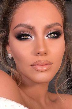 Eyeshadow For Green Eyes, Best Eyeshadow, Eyeshadow Looks, Day Makeup, Prom Makeup, Skin Makeup, Makeup Ideas, Clown Makeup, Bridal Makeup