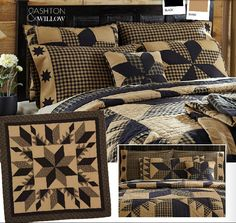 Country Bedding Sets & Country Quilts by Victorian Heart Primitive Bedding, Primitive Quilts, Rustic Bedding, Primitive Decor, Colchas Country, Country Decor, Primitive Country, Country Homes, French Country