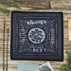 Brave The Storm Bandana  Antique Black by WinterCabin on Etsy, $25.00