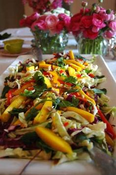 Spicy Mango Asian Salad - now doesn't that look pretty...pretty delicious!