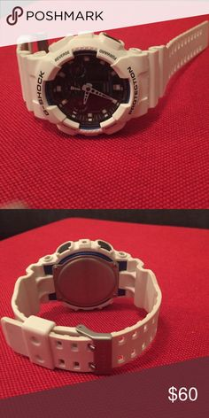 G shock watch White large band G-Shock Accessories Watches