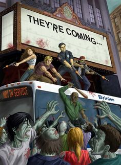 Zombies -:::- Coming to a theatre near you! Resident Evil, Arte Zombie, Zombie Art, Horror Show, Horror Art, Zombie Life, Best Zombie, Apocalypse Art, Zombie Attack