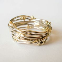 White gold with yellow gold ring. www.heleenhoogenboom.com