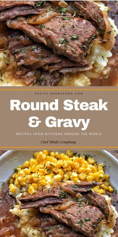 Round Steak & Gravy is a recipe that uses an less expensive reduce of pork known as Round Steak that is scrumptious, but typically wishes hours to prepare dinner so that it's far soft. Health Slow Cooker Recipes, Slow Cooker Hamburger Recipes, Beef Meatloaf Recipes, Best Beef Recipes, Slow Cooker Lasagna, Slow Cooker Freezer Meals, Sausage Recipes, Easy Chicken Recipes, Lunch Recipes