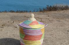 Authentic Senegal Basket Medium by TheBloomingLoomShop on Etsy