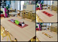 Tuto DIY : le rangement pour tables – Tablettes & Pirouettes Art School, Back To School, Apple School, School Organisation, Classroom Management Tips, Flexibility, Desk, Tables, Cycle 2