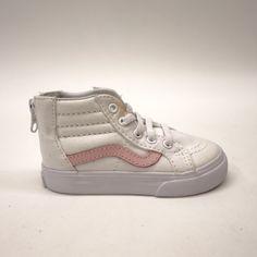 5617f668fa4 New Vans Kids Chalk Pink Classic Zipper Up Sk8-Hi High Top Sneaker Shoes  Size