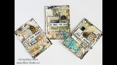 Easy mixed media Tutorial ★ ATC's set - YouTube