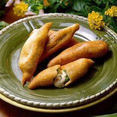 Okra Rellenos are essentially fried okra filled with cheese. The recipe yields 2 dozen, but they'll go fast!