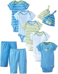 Gerber Baby Boys' 9 Piece Seriously Cute Bodysuit, Pant, and Cap Gift Set - https://www.bestseller.ws/blog/clothing-shoes-jewelry/gerber-baby-boys-9-piece-seriously-cute-bodysuit-pant-and-cap-gift-set/