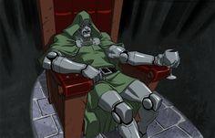 Dr DOOM Chillaxing by jeffwamester on DeviantArt Character Poses, Character Design References, Marvel Villains, Marvel Comics, Disney Xd, Deviantart, 2d Art, American Comics, Comic Artist