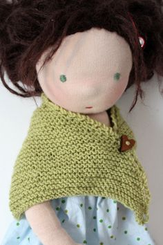 knitting pattern doll shawl kukalka.de