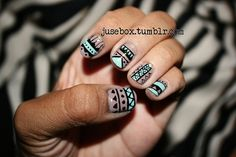Tribal Nail Art | nails by jusebox: NOTD: Tribal Nails