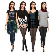 Really cool grunge looks by lilsimsie