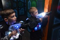 Suit up with your vest and phaser and prepare to experience and exhilarating game filled with strategy and excitement. Your mission begins the moment you step in our two-story state-of-the-art laser tag arena, misted with fog, under a stunning light show to heart pounding music. Group Packages Group Laser Tag $195 15 guests 2 Missions …