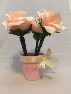 Beautiful Blush Pink Handpainted Rose Flower Pen Pot / Wedding Book Table, Bridal Shower Favor, Teacher Appreciation by DivineLionessDesigns on Etsy