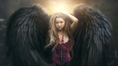 Fantasy Girl Wing Photoshop Manipulation Photo Effects Tutorial