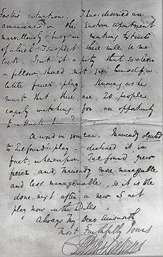 Charles Dickens handwriting