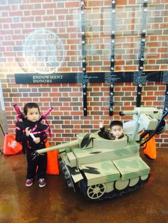 My daughter Charly as a Ninja Princess and my son Conor as a Tank Commander at UOP