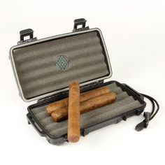 cigar caddy #travel humidor holds 5 churchill cigars case w/humidifier waterproof from $25.98 Cigar Travel Case, Churchill Cigars, Travel Humidor, Cigar Cases, Cigar Humidor, Humidifier, Hold On, Edc, Smoking