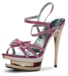 High Heel Double Platform Sandal in Fushia.would be nice without the double platform Clear High Heels, Sexy High Heels, Brand Name Shoes, Men In Heels, Designer High Heels, Stiletto Heels, Stilettos, Shoe Boots, Shoes Sandals