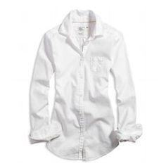 american eagle white oxford shirt women - Google Search