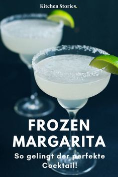 Original Frozen Margarita: Recipe with video Frozen Margaritas, Lime Margarita Recipe, Frozen Strawberry Margarita, Frozen Lemonade, Frozen Cocktails, Strawberry Lemonade, Margarita Recipes, Winter Cocktails, Winter Girl