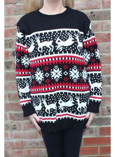 Christmas Jumper, Navy | dollybowbow.com | £15