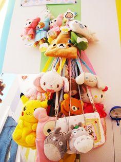 a crapton of adorable stuffed animal purses, including Pikachu, Totoro, Hello Kitty and other Sanrio characters. Kawaii Bags, Kawaii Gifts, Kawaii Cute, Kawaii Style, Kawaii Clothes, Cute Bento Boxes, Pokemon, Animal Bag, Kawaii Room