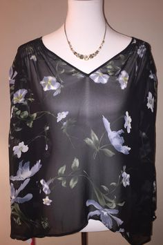 Joie $65 New W/ Tags Size M ** Free Shipping ** Sheer Silk Floral Kanni Top. Free shipping and guaranteed authenticity on Joie $65 New W/ Tags Size M ** Free Shipping ** Sheer Silk Floral Kanni TopHand-done English smocking at the shoulders, back ...