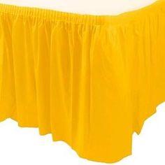 Babado para Mesa Colorline Amarelo 4.27x73cm