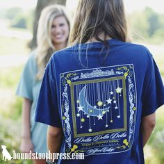 Starry Nights Tri Delta | #LoveTheLab houndstoothpress.com | Sorority and…