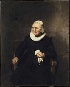 Portrait of a Seated Woman with a Handkerchief, by Carel Fabritius - circa 1644,  Art Gallery of Ontario - Toronto (Canada), oil on canvas.  Height: 124.5 cm (49.02 in.), Width: 100.3 cm (39.49 in.)