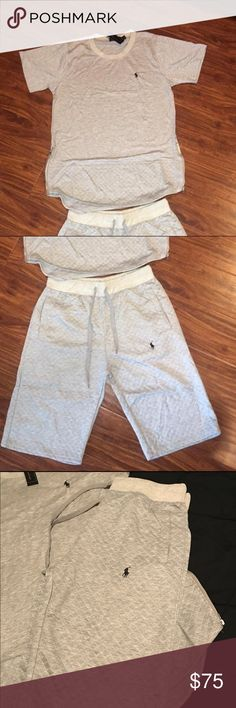Polo Short Set Soft cotton, with new style zippers on the shirt, deep pockets, new style Polo by Ralph Lauren Shorts Athletic