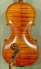 Gliga Violin in Vancouver, BC: Gliga Maestro Violin with Gliga Signature Scroll. Fine handmade violin with exquisite visual appearance and warm, mellow, and deep sound.