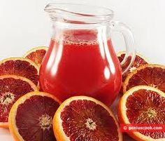 Blood Red Orange & Blood Red Orange Juice...
